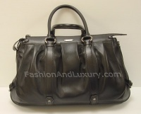 Celine Woman Curl Black Whith Double Neck And Shoulder Belt Bag